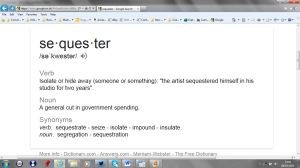 Sequestration: a word apart from the Fiscal Cliff | Englistics